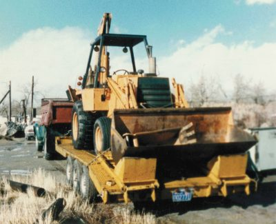 Silver State Boring's first Backhoe.