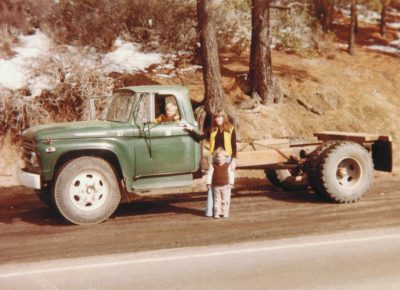 Silver State Boring's First Truck - Sally Landino with the kids.
